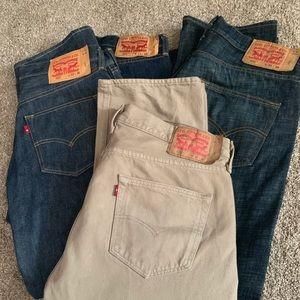 501's Levi bundle Men's pants w33-34.